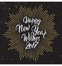 Happy New Year Wishes 2017 vector image vector image