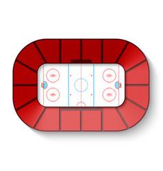 hockey arena top view vector image vector image