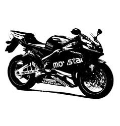 Honda racing bike vector image