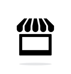 Kiosk icon on white background vector image