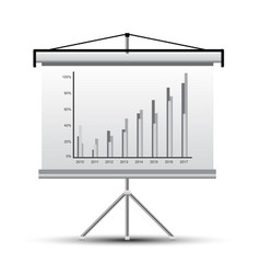 Projector screen vector image