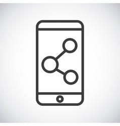 Smartphone Silhouette icon design graphic vector image