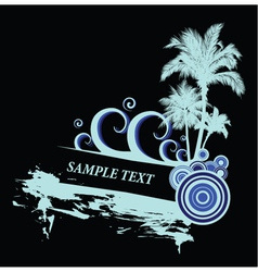 vintage summer background with palm trees vector image vector image