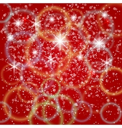 abstract red background with bokeh and particles vector image vector image