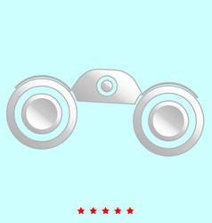 binoculars it is icon vector image