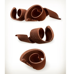 Chocolate shavings chocolates curl sweet food icon vector image vector image
