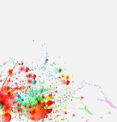 Color paint splashes background vector image