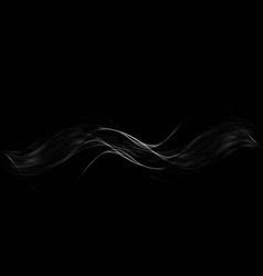 white transparent steam on dark background vector image vector image