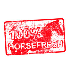 100 per cent horsefresh - red rubber dirty grungy vector