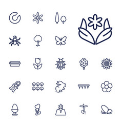22 spring icons vector