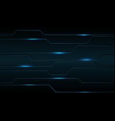 Abstract blue metallic black line circuit cyber vector