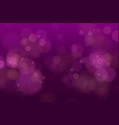 Abstract defocused circular purple pink bokeh vector