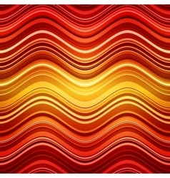 Abstract red and orange stripes waves colorful vector