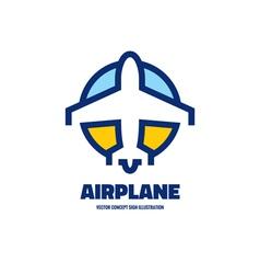 Airplane - logo concept vector