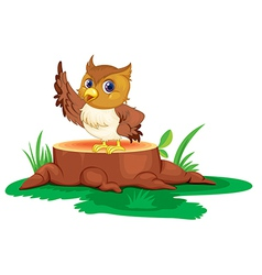 An owl on a stump vector