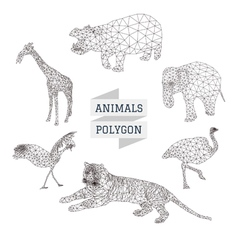 Animal polygon set 2 vector