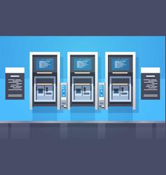 Atm cash automatic teller machines payment vector