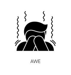 Awe black glyph icon vector