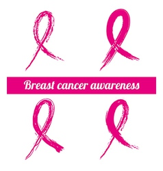 Breast cancer over white background vector