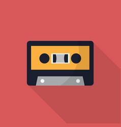 Cassette icon set of great flat icons with style vector