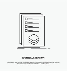 categories check list listing mark icon line gray vector image