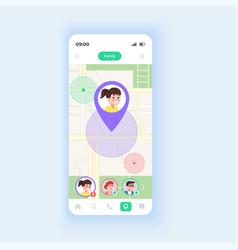 children locator smartphone interface template vector image