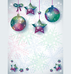 christmas background with ornaments and space for vector image