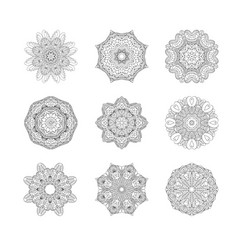 Circular pattern or oriental ornaments vector