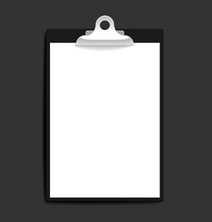Clipboard with paper vintage background vector