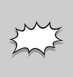 Comics speech bubble for text vector