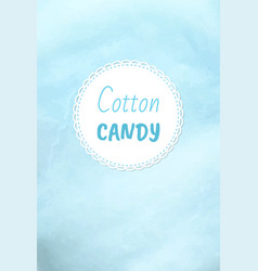 Cotton candy holiday treats logo fluffy candyfloss vector