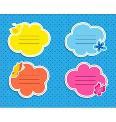 Cute frames collection vector