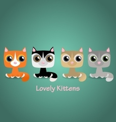 Cute funny lovely kittens vector image vector image
