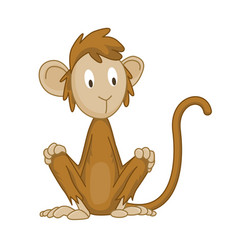 Cute funny monkey colorful cartoon vector