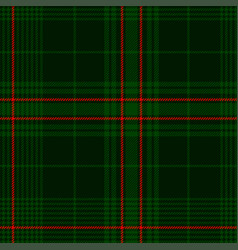 dark green tartan plaid pattern vector image