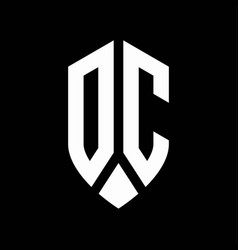 dc logo monogram with emblem shield style design vector image