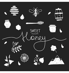 Design elements honey black vector