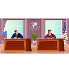 Diplomacy and diplomat background vector
