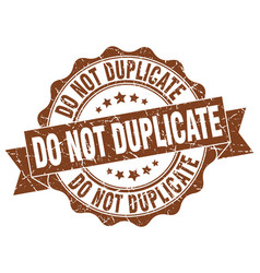 Do not duplicate stamp sign seal vector