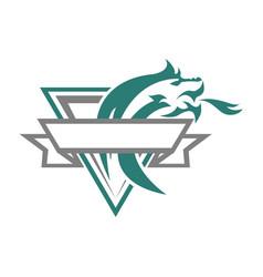 Dragon esport vintage logo vector