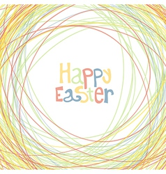 easter happy card vector image