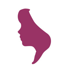 face side view vector image