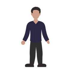 faceless man adult vector image