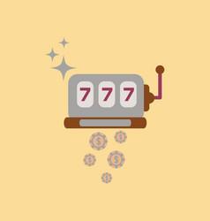 Flat icon on stylish background poker slot machine vector