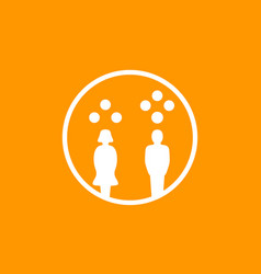 gender gap in salary income icon vector image