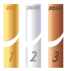 Gold Silver Bronze Labels vector image
