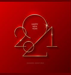 Golden 2021 new year logo holiday greeting card vector