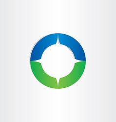 green blue compass icon vector image