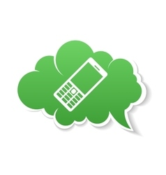 Green Phone speech Bubble Icon vector