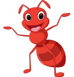 happy ant cartoon vector image